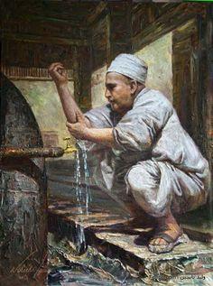 """Girl Knitting by a Window"" door Zwitserse kunstenaar - Albert Anker . Knit Art, Sewing Art, Egyptian Art, Renoir, Beautiful Paintings, Belle Photo, Monet, Oeuvre D'art, Female Art"