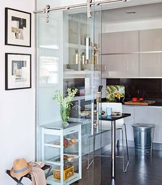 *portas de vidro de correr idea, glass wall, barn doors, small kitchens, sliding glass doors, design interiors, kicsi konyha1jpg, kitchen doors, home interior design