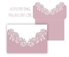 5x7'' Floral Wedding Invitation Pocket от NarisariDigitalArt