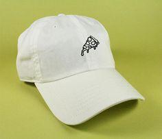 PIZZA Baseball Hat Dad Hat Low Profile White Pink Black