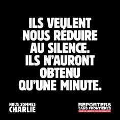 Rsf minute de silence 8 janvier 2015 pour Charlie Hebdo
