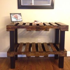 Getting a glass top for it. Table made from pallets