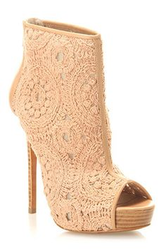Charles David - Empower Booties in Almond Lace - Beyond the Rack