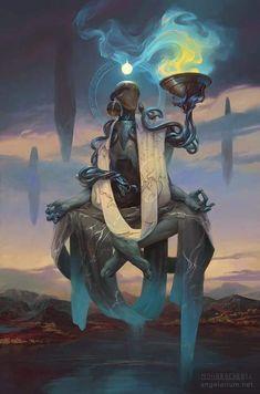 "spassundspiele: ""Phanuel, Angel of Truth – fantasy character concept by Peter Mohrbacher "" Dark Fantasy Art, Fantasy Artwork, Space Fantasy, Character Concept, Character Art, Concept Art, Fantasy Creatures, Mythical Creatures, Peter Mohrbacher"