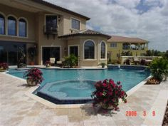 Wrap Around Pool And Spa By Pool Design Concepts Of Sarasota, Florida   A  Client