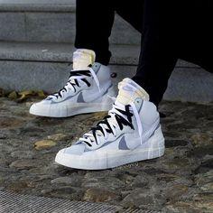 "new style 2b05f 0aa40 ... X Nike Blazer Mid White Wolf Grey Cop or Drop? . . .  sacai  nikeblazer   airjordan1  airjordan  fashion…"" Jordan 1Air JordansWolfAir JordanGray Wolf"