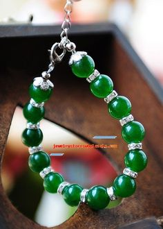 cheap chanel handbags on www designerbaghub com, great design, fashion style Bracelet Making, Jewelry Making, Bangles, Beaded Bracelets, Necklaces, Green Agate, Jewelry Crafts, Jewelry Ideas, Jewel Box