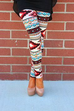 Stylish Aztec Red Legging With Black Top
