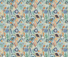Mid-Century Microscopic Marvels fabric by slumbermonkey on Spoonflower - custom fabric
