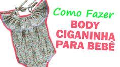 Como Fazer Body Infantil Com Babado Ciganinha  | Artesanato Passo-a-Passo