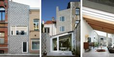 Completed in 2010 in Ghent, Belgium. Images by Filip Dujardin . Terraced House The first steps taken by the architect and the client start with the search of a suitable building site. Under the architect's. Classic Building, Terraced House, Villa, Luz Natural, Concrete Blocks, House Extensions, Townhouse, My House, Architecture Design