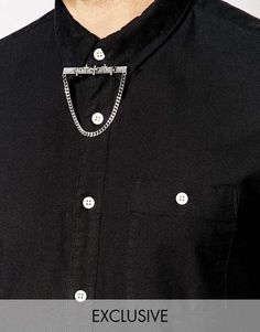 Reclaimed+Vintage+Cross+Collar+Bar+With+Chain