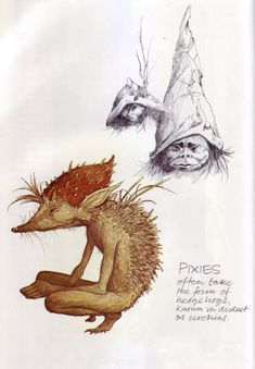 Brian Froud and Alan Lee's Faeries. You probably know Brian Froud's work from the Jim Henson films Labyrinth and The Dark Crystal. Magical Creatures, Fantasy Creatures, Beautiful Creatures, Brian Froud, Arthur Rackham, Pixie Tattoo, Alan Lee, The Dark Crystal, Midsummer Nights Dream