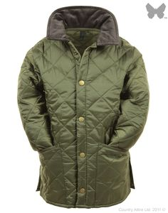 Barbour Children's Liddesdale Quilted Jacket - Olive CQU0047OL91 | Country Attire