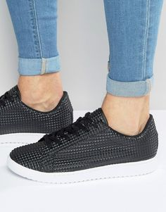 Get this Asos's sneakers now! Click for more details. Worldwide shipping. ASOS Lace Up Trainers in Black Pyramid - Black: Trainers by ASOS, Faux-leather upper, Embossed pyramid design, Lace-up fastening, Padded cuff, Contrast chunky sole, Herringbone tread, Wipe with a damp sponge.  (zapatillas, trainers, sporty, sport, deporte, deportivo, fitness, deportivos, deportiva, deporte, zapatillas de entrenamiento, sneakers, tenis, chaussons, ciabatte)