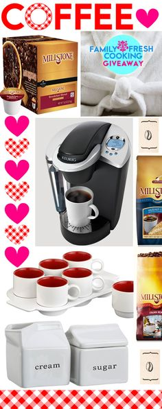 Visit FamilyFreshCooking.com for the Ultimate Coffee Giveaway (includes Special Edition Keurig Coffee Maker, Crate mugs & accessories, Millstone Coffee & MORE!)