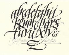 MB alphabet by Luca Barcellona - Calligraphy & Lettering Arts, via Flickr