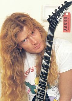 Dave Mustaine with another Jackson