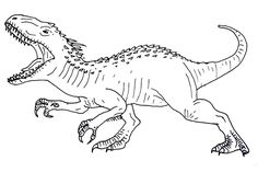 jurassic world echo coloring pages | Indominus Rex Disegno da colorare | dinosauri | Colori ...