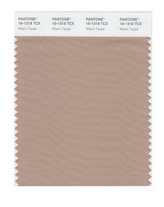 Pantone Smart Swatch 16-1318 Warm Taupe, neutral for trousses, skirts, coats, blazers...