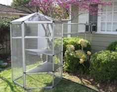 How to Buy an Outdoor Cat Enclosure Cheap | eHow.com