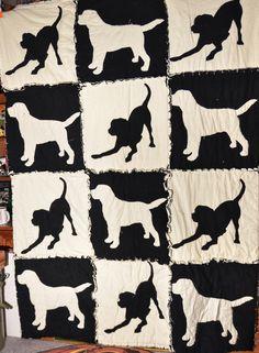 Labrador Retrievers Quilt Throw Size 52 X 54 Inches