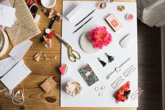 behind the scenes of flatlay photography