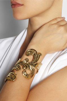 Emilio Pucci|Engraved gold-tone cuff|NET-A-PORTER.COM