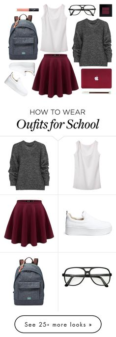 """school outfit #1"" by nicholas-the-third on Polyvore featuring Belstaff, FOSSIL, Bobbi Brown Cosmetics, NARS Cosmetics and Windsor Smith"