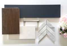 Hale Navy Kitchen Island, White Diamond Kitchen Cabinets, Handscrapped Flooring, Marble Chevron Mosaic Backsplash combined with Brushed nickel hardware. Learn More about the inspiration for this project. Navy Kitchen Cabinets, Honey Oak Cabinets, Kitchen Island, Kitchen Colors, Kitchen Design, Painting Oak Cabinets White, Hale Navy, Interior Design Boards, Mosaic Backsplash