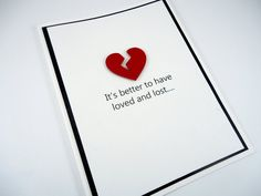 Funny break up card, divorce card, breakup humor, sarcastic, friendship, thinking of you, broken heart, loved and lost, psycho bitch