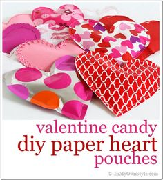 cute for the kids to take to school.... much easier to transport than baked goods!!!! valentine paper pouches