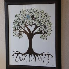 Check out our diy family tree selection for the very best in unique or custom, handmade pieces from our prints shops. Family Tree Art, Tree Leaves, Permanent Marker, Floating Frame, Thoughtful Gifts, Clear Glass, Art Projects, Handmade