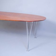 Mahogany Elliptic Table by Bruno Mathsson | From a unique collection of antique and modern dining room tables at http://www.1stdibs.com/furniture/tables/dining-room-tables/
