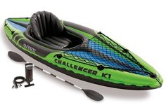 Happiness is paddling your kayak. Grab your Intex Challenger 1 Person Inflatable Kayak With Oars And Pump and head to the water. Sporty, fun, and durable, this Intex Challenger 1 Person Inflatable Kayak With Oars And Pump is ready to hit the lake. Best Fishing Kayak, Fishing Boats, Fishing Jig, Fishing Shirts, Bushcraft, Kayaks For Sale, Recreational Kayak, Snorkel, Shopping