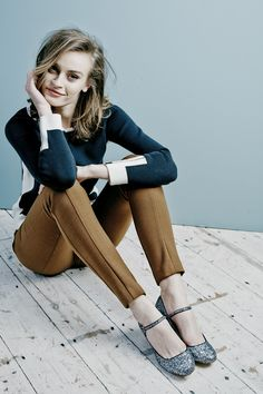 Cute combo from Boden - they do Classic well, and the combination of seaming, cuffs and shoes take it to more Lively. http://shoppingfortherealyou.com/