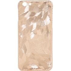 La Mela Luxury Handmade In Italy Women Frozen Rose Gold Plated Iphone... ($260) ❤ liked on Polyvore featuring accessories, tech accessories, phone cases, phone, electronics, tech and rose gold