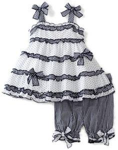 Kate Mack Baby-girls Infant Picnic Sail Top And Bloomer Set