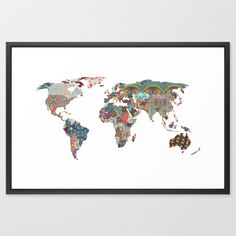 "What a print! Makes me want to travel more! (38""x26"") $122"