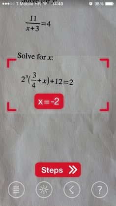 WOW! The Photo Math App! Download, take a picture and let it answer any Math question!