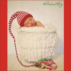 NeWBoRN Girl Boy ChRiStMaS Hat Baby PHoTo PRoP by MadAboutColour, $33.00
