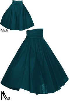1950s High Ruched Waist Circle Skirt by Amber Middaugh 2016