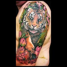 New tattoo sleeve tiger ink ideas Baby Tattoos, Love Tattoos, Body Art Tattoos, New Tattoos, Tattoos For Guys, Tatoos, Tattoo Ink, Tiger Hand Tattoo, Tiger Tattoo Sleeve