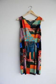 Jenni Rope for Marimekko Painter Velvet Pattern Dress RARE | eBay