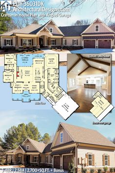 Architectural Designs European Cottage House Plan 36031DK 3-4 BR | 2.5 BA | 2,700+ Sq. Ft. | Ready when you are. Where do YOU want to build? #36031DK #adhouseplans #architecturaldesigns #houseplan #architecture #newhome #newconstruction #newhouse #homedesign #dreamhome #dreamhouse #homeplan #architecture #architect #craftsman #craftsmanhome #vaultedceiling