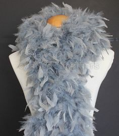 Regal Purple w// Silver Tinsels 45 Grams Chandelle Feather Boa  Party Halloween