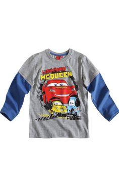 $11.50Boy's Kids Disney Cars Official Longsleeve T Shirt Sz Age 3 8 Grey | eBay