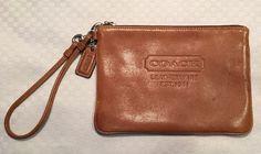 0431b0b9fb521d Coach Leatherware Large Wristlet Brown Leather 7 25 034 x 5 034