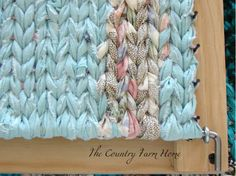 how to build a rug loom | It doesn't take long to make a Mini Rag Rug either.
