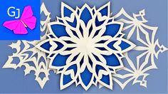 Снежинка из бумаги. Три способа как правильно сделать шестилучевую снежинку